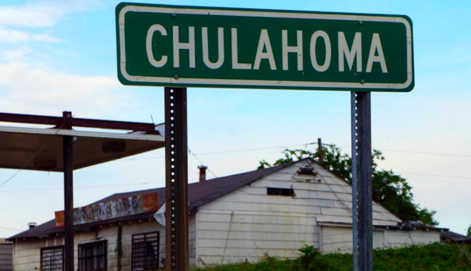 Chulahoma road sign